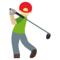 Man Golfing: Medium-Light Skin Tone on EmojiOne 4.0