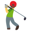 Man Golfing on EmojiOne 4.0