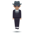 Man in Suit Levitating: Medium Skin Tone on EmojiOne 4.0