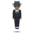 Man in Suit Levitating: Medium-Dark Skin Tone on EmojiOne 4.0