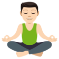 Man in Lotus Position: Light Skin Tone on EmojiOne 4.0