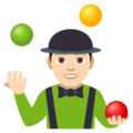 Man Juggling: Light Skin Tone on EmojiOne 4.0