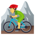 Man Mountain Biking on EmojiOne 4.0