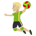 Man Playing Handball: Medium-Light Skin Tone on EmojiOne 4.0
