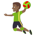 Man Playing Handball: Medium-Dark Skin Tone on EmojiOne 4.0