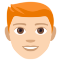 Man, Red Haired: Light Skin Tone on EmojiOne 4.0