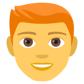 Man: Red Hair on EmojiOne 4.0