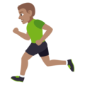 Man Running: Medium Skin Tone on EmojiOne 4.0