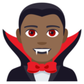 Man Vampire: Medium-Dark Skin Tone on EmojiOne 4.0
