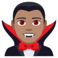 Man Vampire: Medium Skin Tone on EmojiOne 4.0