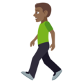 Man Walking: Medium-Dark Skin Tone on EmojiOne 4.0
