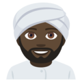 Man Wearing Turban: Dark Skin Tone on EmojiOne 4.0