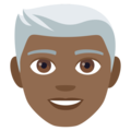 Man, White Haired: Medium-Dark Skin Tone on EmojiOne 4.0