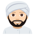 Person Wearing Turban: Light Skin Tone on EmojiOne 4.0