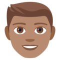 Man: Medium Skin Tone on EmojiOne 4.0