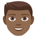 Man: Medium-Dark Skin Tone on EmojiOne 4.0