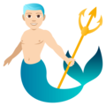 Merman: Light Skin Tone on EmojiOne 4.0