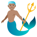 Merman: Medium Skin Tone on EmojiOne 4.0