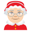Mrs. Claus: Light Skin Tone on EmojiOne 4.0