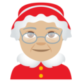 Mrs. Claus: Medium-Light Skin Tone on EmojiOne 4.0