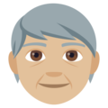 Older Person: Medium-Light Skin Tone on EmojiOne 4.0
