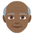 Old Man: Medium-Dark Skin Tone on EmojiOne 4.0