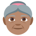 Old Woman: Medium Skin Tone on EmojiOne 4.0