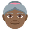 Old Woman: Medium-Dark Skin Tone on EmojiOne 4.0