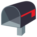 Open Mailbox With Lowered Flag on EmojiOne 4.0