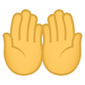 Palms Up Together on EmojiOne 4.0