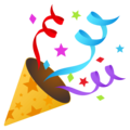 Party Popper on EmojiOne 4.0