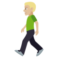 Person Walking: Medium-Light Skin Tone on EmojiOne 4.0