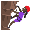 Person Climbing: Dark Skin Tone on EmojiOne 4.0