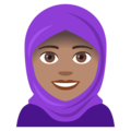 Woman With Headscarf: Medium Skin Tone on EmojiOne 4.0