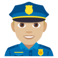 Police Officer: Medium-Light Skin Tone on EmojiOne 4.0