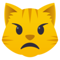 Pouting Cat Face on EmojiOne 4.0