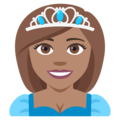 Princess: Medium Skin Tone on EmojiOne 4.0