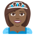 Princess: Medium-Dark Skin Tone on EmojiOne 4.0