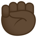 Raised Fist: Dark Skin Tone on EmojiOne 4.0