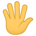 Hand With Fingers Splayed on EmojiOne 4.0