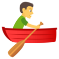 Person Rowing Boat on EmojiOne 4.0