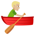 Person Rowing Boat: Medium-Light Skin Tone on EmojiOne 4.0