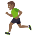 Person Running: Medium-Dark Skin Tone on EmojiOne 4.0