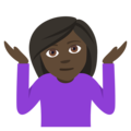 Person Shrugging: Dark Skin Tone on EmojiOne 4.0