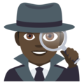 Detective: Dark Skin Tone on EmojiOne 4.0