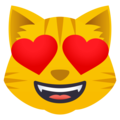 Smiling Cat Face With Heart-Eyes on EmojiOne 4.0