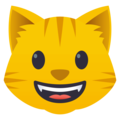 Grinning Cat Face on EmojiOne 4.0