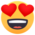 Smiling Face With Heart-Eyes on EmojiOne 4.0