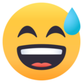 Grinning Face With Sweat on EmojiOne 4.0