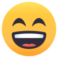Grinning Face With Smiling Eyes on EmojiOne 4.0